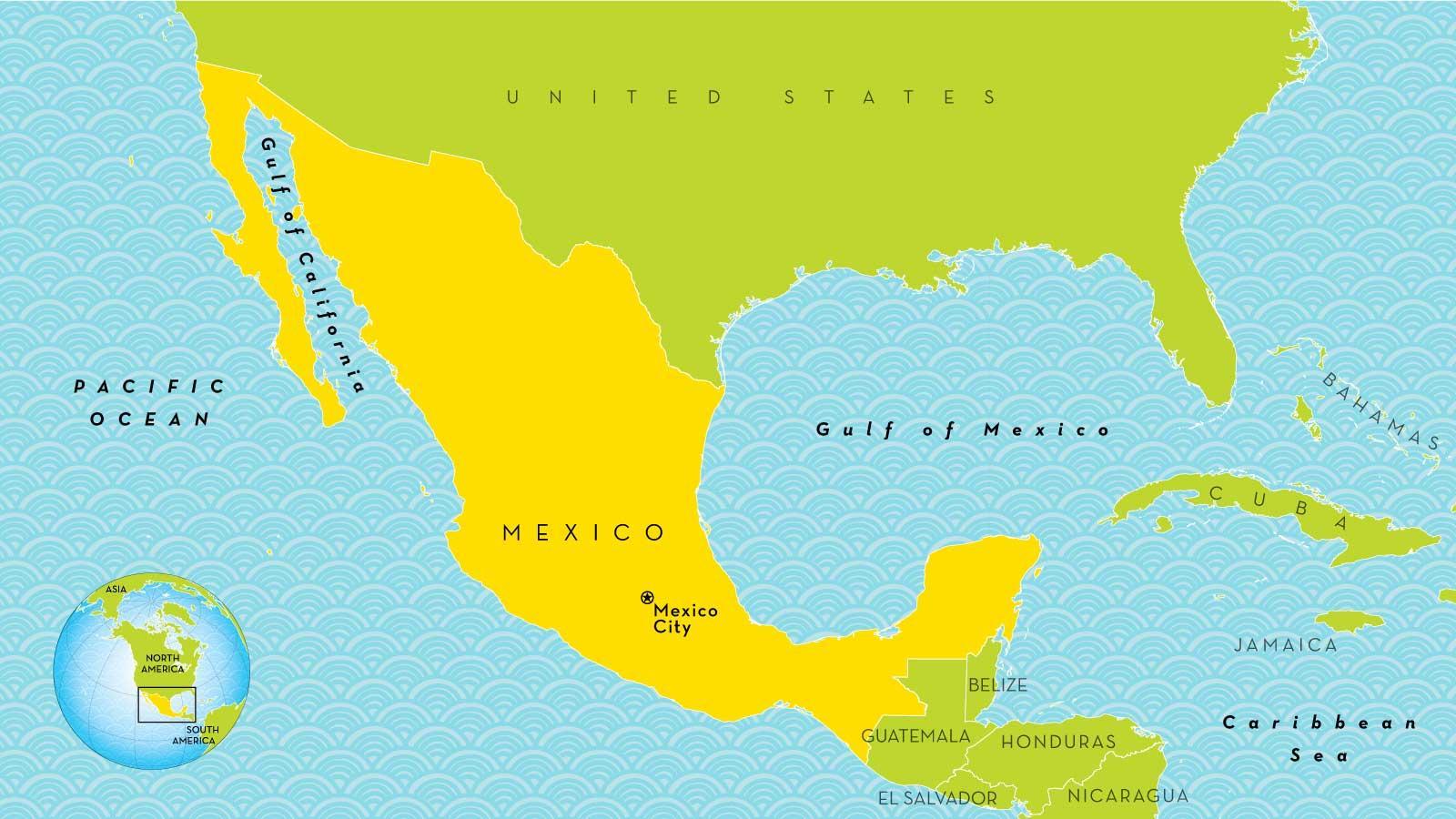 Mexico City World Map Kartta Mexico City Meksiko