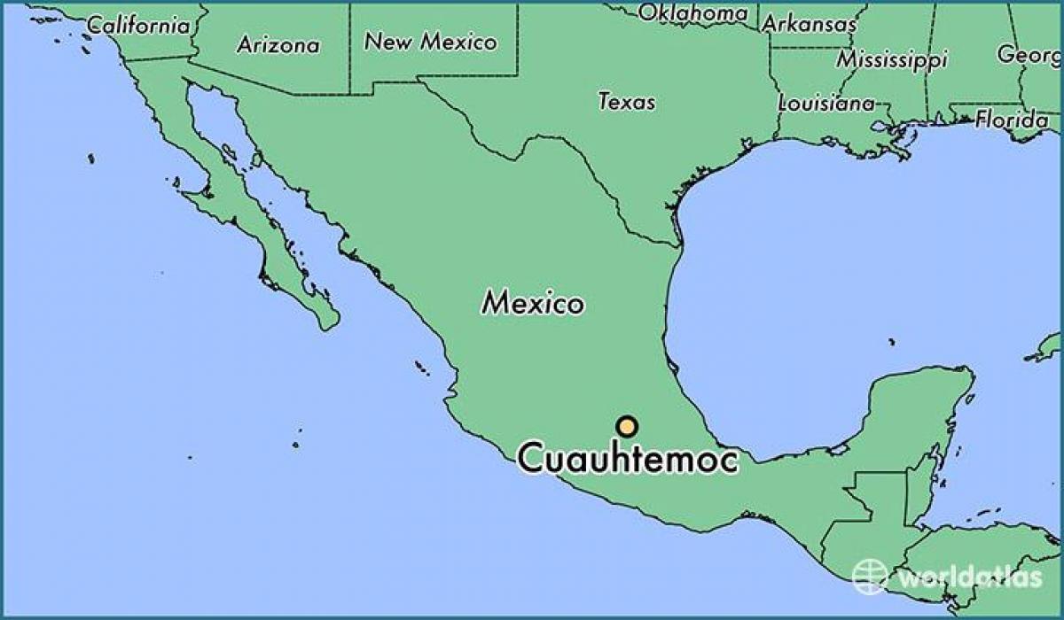 Cuauhtemoc Meksiko Kartta Kartta Cuauhtemoc Meksiko Meksiko