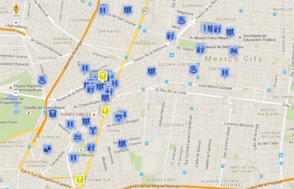 Homo Meksiko Kartta Homo Kartta Mexico City Meksiko