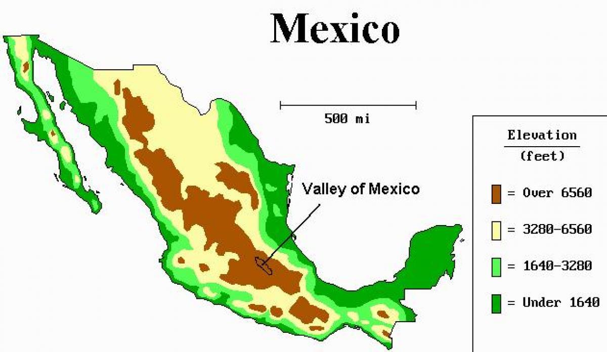 Valley Meksikon Kartta Kartta Valley Meksikon Meksiko